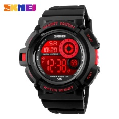 SKMEI merek Watch 1222 pria olahraga Digital menonton LED Display Outdoor militer Watches Shock tahan Chronograph Jam Alarm arloji