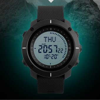 SKMEI merek Watch Fashion multifungsi Digital Watch Olahraga Outdoor tahan air jam tangan pria Kompas Countdown Alarm LED jam tangan 1216