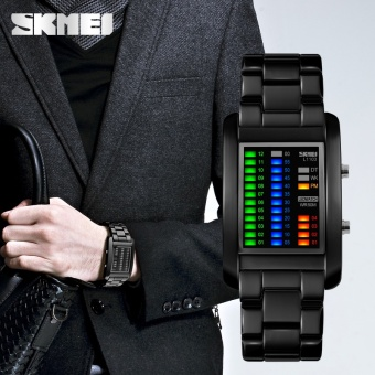 SKMEI merek Watch mode persegi Digital pria elektronik LED air tahan Digital jam tangan fantastis Solid Unisex 1103 - intl