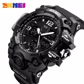 SKMEI merek Watch pria Luxury og Quartz Digital LED jam tangan elektronik 1155 B