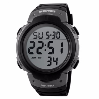 SKMEI Pioneer 1068 LED Watch Jam Tangan Digital LED Waterproof 50 meter - Garansi 1 Bulan