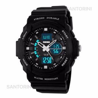 SKMEI Pria Jam Tangan Skmei Olahraga Militer Tahan Air Analog Digital LED Multifungsi Waterproof Sports Men Watch - WHITE