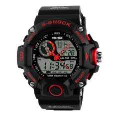 SKMEI S-Shock Men Sport LED Watch Water Resistant 50m - AD1029 - Red