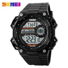 SKMEI S-Shock Militer Sport Watch Water Resistant 50m - DG1115 - Black / Black