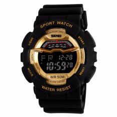 SKMEI S-Shock Sport Watch Water Resistant 50m DG1012 Jam Tangan Sport Keren - Hitam Emas