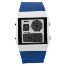 SKMEI Unisex Loves Sport Waterproof Rubber Strap Wrist Watch - Deep Blue 0841 - Intl