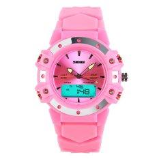 SKMEI Unisex Sport Waterproof Rubber Strap Wrist Watch -Red 0821