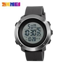 SKMEI1268 Pria olahraga waktu Double Digital tahan air LED Display Watch Gray besar