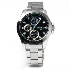 SKONE 5013 Sports Luminous Quartz Male Watch With Decorating Small Three Hands