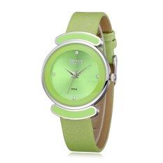 SKONE Fashion Brand Ladies Watch Women Casual Watches Fashion Luxury Leather Strap Wrist Watches-Green