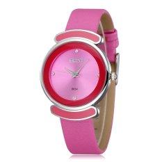 SKONE Fashion Brand Ladies Watch Women Casual Watches Fashion Luxury Leather Strap Wrist Watches-Rose