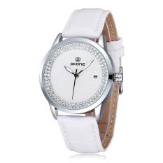 SKONE Fashion Luxury Diamond Rhinestone Women Wristwatch Quartz Water-resistant Women Dress Watch with Date (Intl)