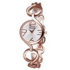SKONE New Fashion Diamond Watches High-quality PU Belt Ladies Watch-Black Silver