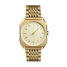 Slow Mo 04 - Swiss Made One-hand 24 Hour Watch - Gold Steel (Intl)