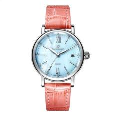 SOBUY Polaroid long watch Girls simple fashion genuine waterproofquartz sapphire steel strap watch (Pink) - intl