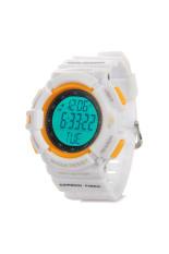 Sports PU Band Digital Wireless Heart Rate Monitor with Pedometer / Calendar / Alarm (White)