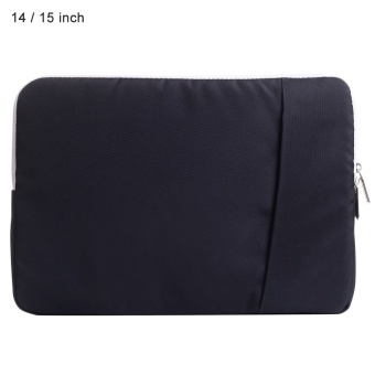 SSIMOO Shockproof Nylon Fabric Laptop Bag Tablet Pouch Sleeve for MacBook 14 / 15 inch - intl