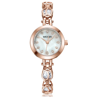 Stainless steel Waterproof high-end jam tangan wanita