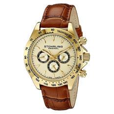 Stuhrling Original Men's 564L.02 Triumph Classic Swiss Quartz Multifunction Gold-Tone Watch (Intl)