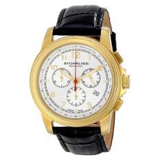 Stuhrling Original Men's 717.03 Octane Targa Courant Analog Display Swiss Quartz Black Watch (Intl)