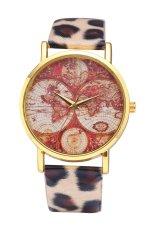 Style Maps GENEVA Super Popular Beautiful PU Leather Quartz Wrist Watch (White) (Intl)