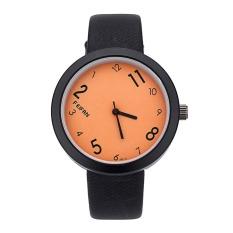 Stylish Design And Simple Style Ladies Watch (Orange)