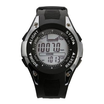 SUNROAD FX702A2 Wristwatch Fishing Barometer Altimeter ThermometerDigital Sport Watch Silver - intl