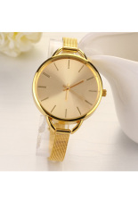 Sunwonder Fashion Luxury Gold / Silver Quartz Lady Women Wrist Watch (Golden) (Intl)