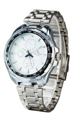 Super Speed V6 Stylish Casual Analog Quartz Watch 214308 (Silver)