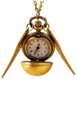 SuperCart Classical Elegant Vintage Bronze Punk Steampunk Quartz Pocket Watch Pendant Chain Necklace (Brown)