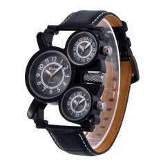 Svoovs OULM European Radium Mens Watch Wholesale / Ebay Foreign Trade Selling Watches / Long / Leather Watchband / 1167 Gun