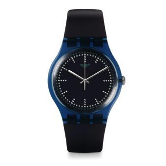 Swatch - Jam Tangan Pria - Biru-Hitam - Rubber Biru - SUON121 SWT Blue Pillow