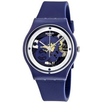 Swatch Jam Tangan Pria-GN245 SQUELETTE BLUE-Biru