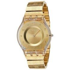 Swatch - Jam Tangan Wanita - Gold-Gold - Stainless Steel - SFK355 Warm Glow