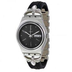 Swatch - Jam Tangan Wanita - Silver-Hitam - Rubber Hitam - YLS710G Moroccan Night