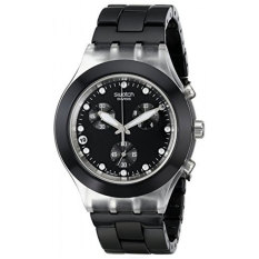 Swatch Jam Tangan Wanita - Stainless Steel - Hitam - Swatch SVCK4035G