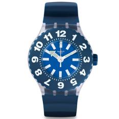 Swatch Men's SUUK112 - Jam Tangan Pria - Biru - Silicone