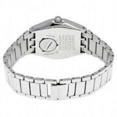 Swatch YLS713G Grande Dame Day Date Analog Chain - Silver-Biru