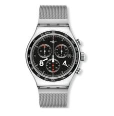 Swatch Yvs401g Irony Blackie Chronograph Silver Black White Steel Men Watch NEW - Intl