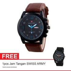 Swiss Army BOGOF Jam Tangan Pria - Kulit - Hitam - SA 7169C BRW BLUE