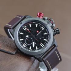 Swiss Army Chrono SA6684M - Jam Tangan Kasual Pria – Leather Strap