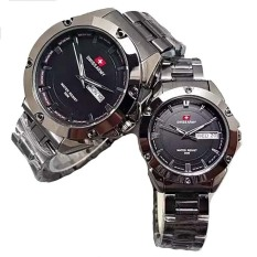 Swiss Army Couple - Stainless Steel - Black - SA1570 Black Couple
