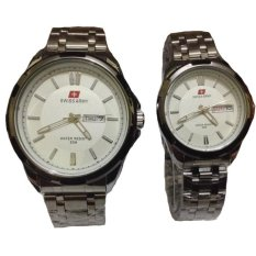 Swiss Army Couple - Stainless Steel - Silver White - SA 1575 SW Couple