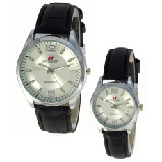 Swiss Army Couple Watch - Hitam - Kulit - Swiss Army SA TW 1931 SS BL Coup
