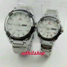 Swiss Army Couple Watch - Silver White - Stainless - Swiss Army SA 5249ML