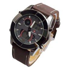 Swiss Army Dual Time SA1188LS - Jam Tangan Pria - Dual Time - Leather Strap - Coklat