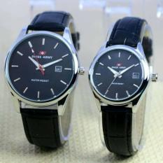 Swiss Army Jam Tangan Couple Pria dan Wanita - Tali Kulit - SA 0142