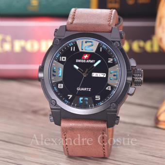 Swiss Army - Jam Tangan Pria - Body Black - Black/Blue Dial - SA
