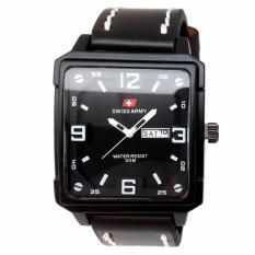 Swiss Army Jam Tangan Pria - Leather Strap - SA 099