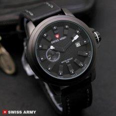Swiss Army Man Jam Tangan Pria Strap Kulit terbaru trend&sporty .